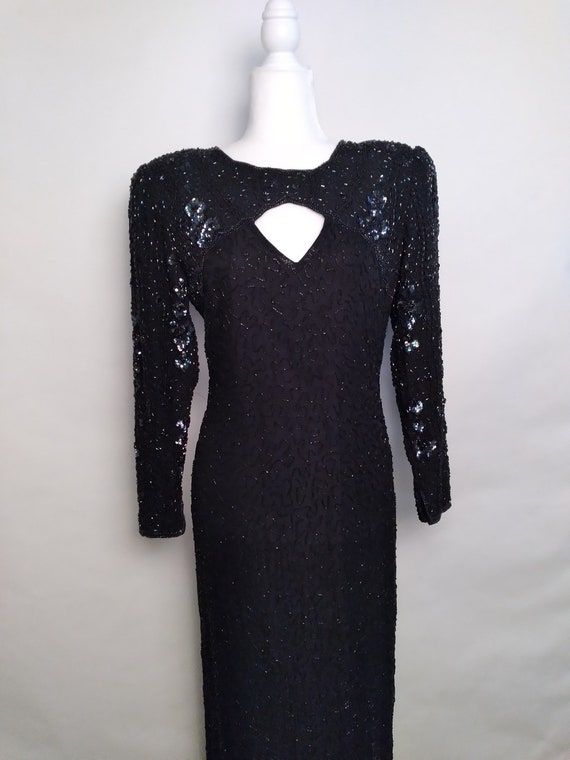 Vintage Night Vogue beaded gown