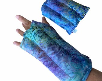 1 Wrist and hand heat wrap, All Flax, Carpal tunnel relief, wrist and hand heating mitt for arthritis , typing and knitting relief