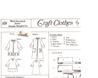 Durelle Designs 101  Work Smock and Dress  Sewing Pattern  ID668