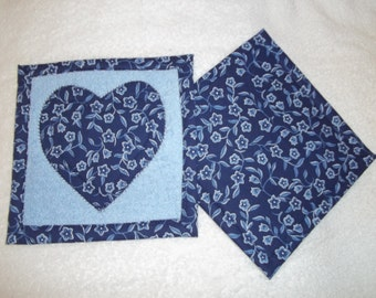 Heart Applique Pot Holder