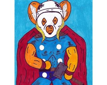 Thor Marvel Avengers Pop Culture Teddies 8x10 Print