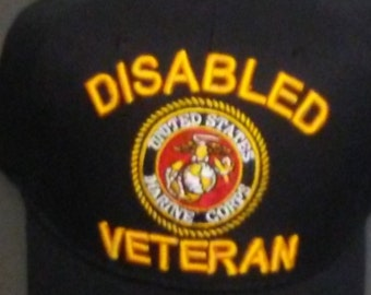 fda93d05a2f Military Cap USMC Disabled Veteran