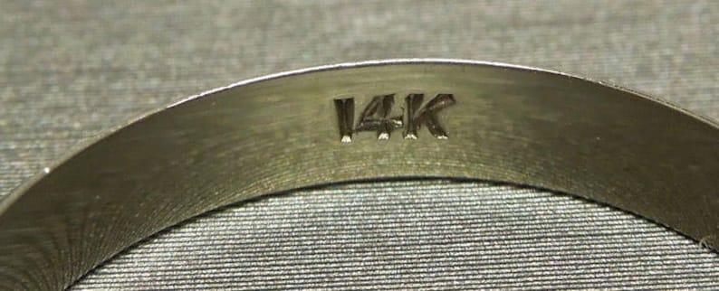 Unisex  Men/'s Vintage Estate C1980 14K White Gold Milligrain Border Plain 3.2mm Wedding Band Ring Sz 9.5