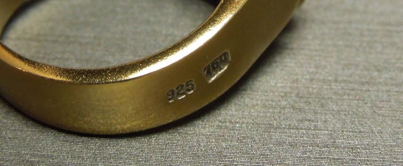 Unisex Vintage Estate Ancient Roman Style 925 Gold Vermeil 18K Gold Accent 2ct Pink Red Tourmaline Solitaire Ring Sz 7