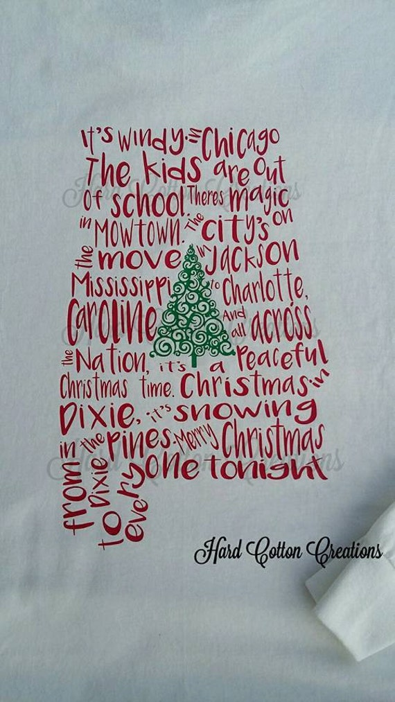 Christmas In Dixie Shirt.Back Or Front Design Gildan Christmas In Dixie Shirt Alabama State Hoodie Long Sleeve