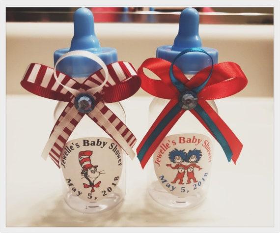 Fillable Bottle Baby Shower Favors Blue Pink Party Decorations Recuerdos 1