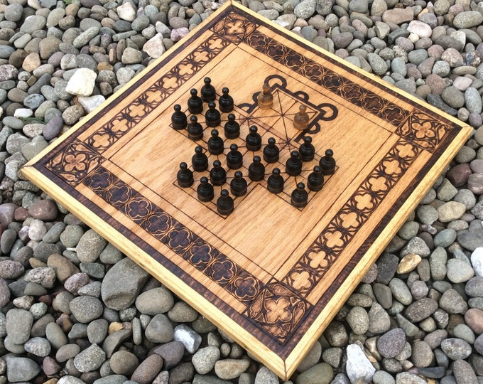Asalto: 19th Century Traditional Hunt-style Board Game, Tactical Strategic Wooden Board Game - handcrafted & customizable - MADE TO ORDER
