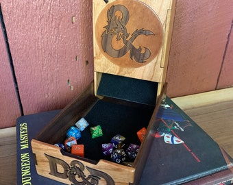 READY TO SHIP - Folding Dice Tower: Board Game/Role Playing Game aid, Dungeons & Dragons, Tabletop Wargames, handmade collapsible dice tower