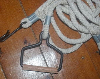 WW2 Reproduction US M3A4 Airborne John Wood Hand Cart Tow Ropes (Pair)