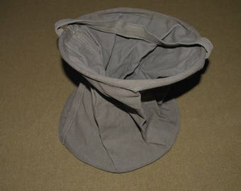 WWII WW2 US Folding Collapsible Water Bucket Pail in Dark Olive Drab #7