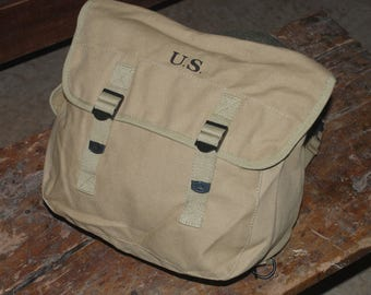 WWII WW2 US M1936 Haversack Backpack Pack Musette Bag in Khaki