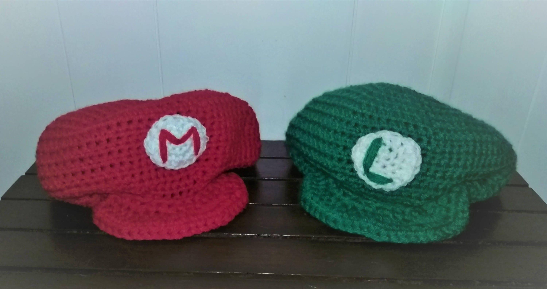 Mario And Luigi Hats Etsy