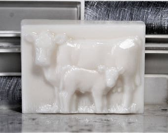 Cow Soap -Cream & Honey - Cow and Calf - Handcrafted Soap - Phthalate Free - Sulfate Free - No Detergent Soap - All Natural Soap