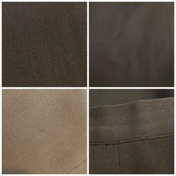 1940s Brown Skirt Suit - Dress Suit - Wool Gabard… - image 8