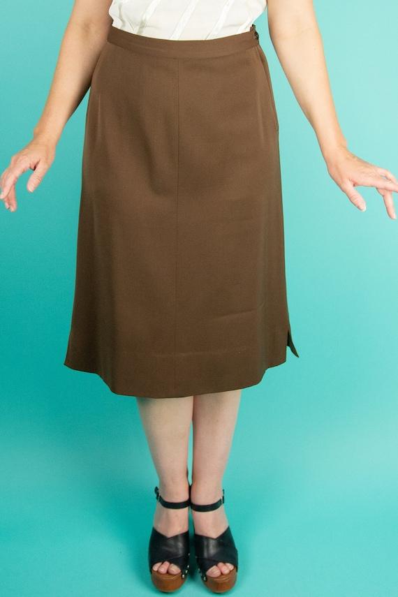 1940s Brown Skirt Suit - Dress Suit - Wool Gabard… - image 5