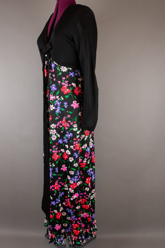 Vintage 1960s Dress -  Floral Maxi Dress - Large … - image 7