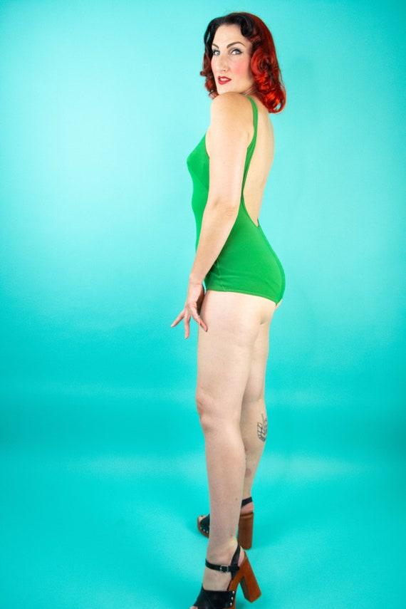 1960s Green Swimsuit - One Piece Swimsuit - Bathi… - image 8