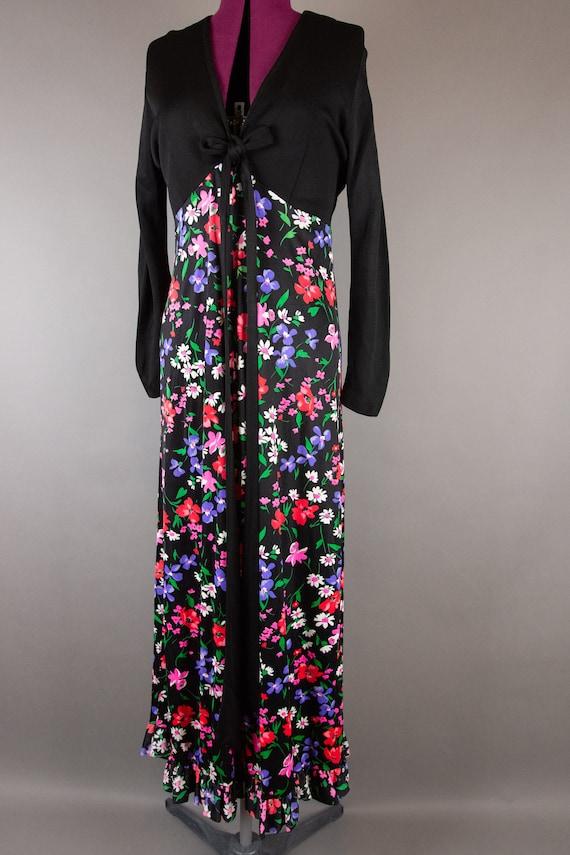 Vintage 1960s Dress -  Floral Maxi Dress - Large … - image 6