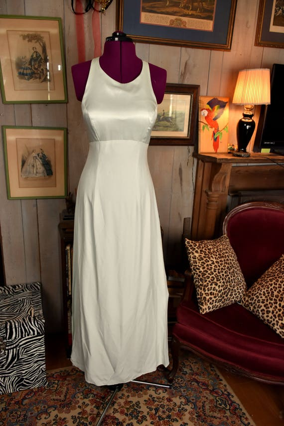 90s Small Pastel Green Formal Gown - Bridal Gown -