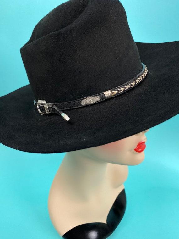 Vintage 1980s Black Cowboy Hat Size 7 - Western H… - image 4