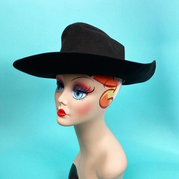 Vintage 1980s Black Cowboy Hat Size 7 - Western H… - image 6