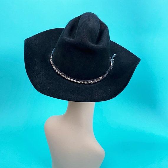 Vintage 1980s Black Cowboy Hat Size 7 - Western H… - image 7