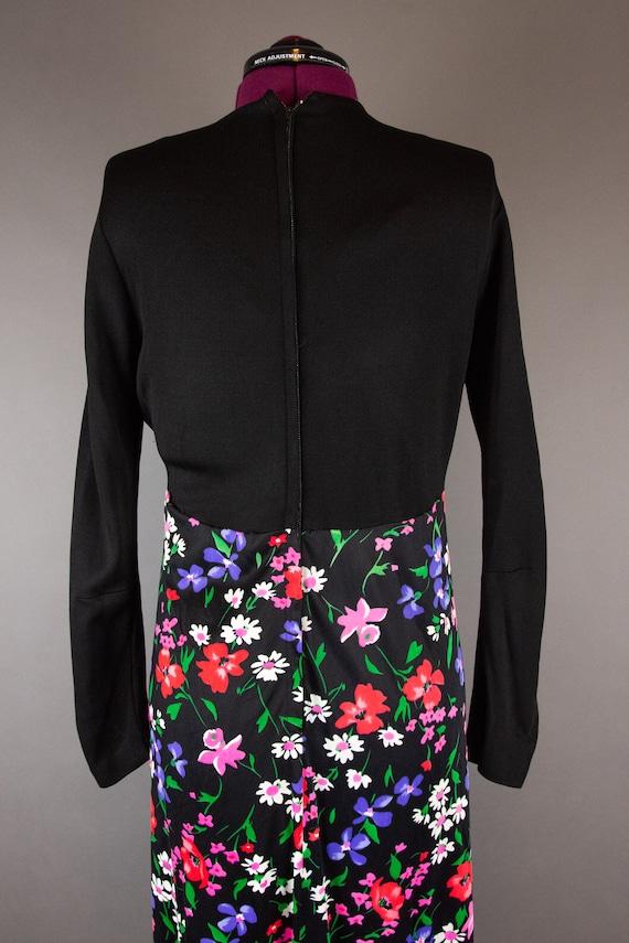 Vintage 1960s Dress -  Floral Maxi Dress - Large … - image 9