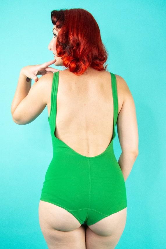 1960s Green Swimsuit - One Piece Swimsuit - Bathi… - image 7