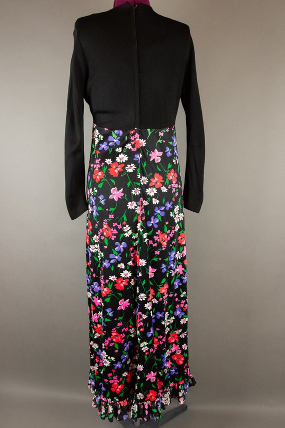 Vintage 1960s Dress -  Floral Maxi Dress - Large … - image 8