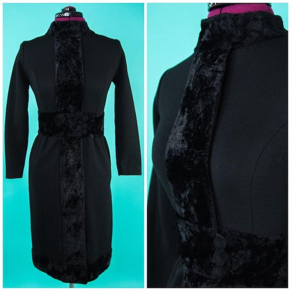 1960s Dress - Black Dress - Mod Dress - Small - Fa