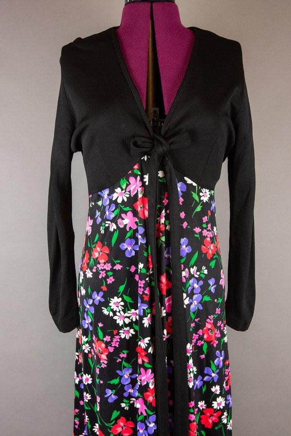 Vintage 1960s Dress -  Floral Maxi Dress - Large … - image 4