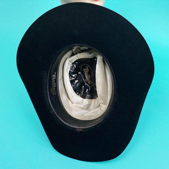 Vintage 1980s Black Cowboy Hat Size 7 - Western H… - image 10