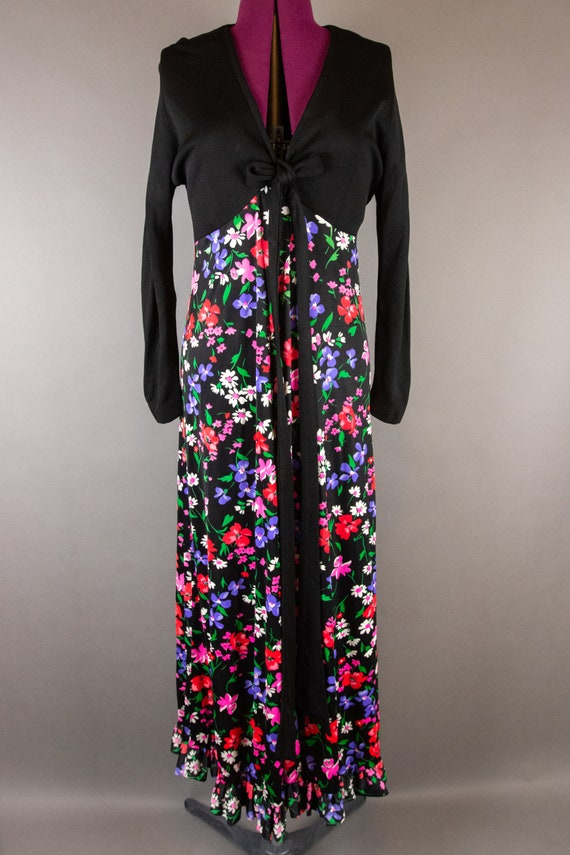 Vintage 1960s Dress -  Floral Maxi Dress - Large … - image 2