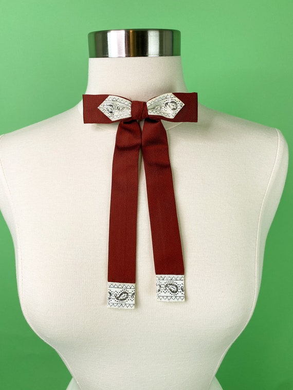 Vintage 1940s 50s Clay Brown Western Bow Tie