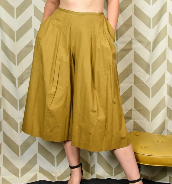 Vintage 1960s Wide Leg Capris Culottes - Vintage N
