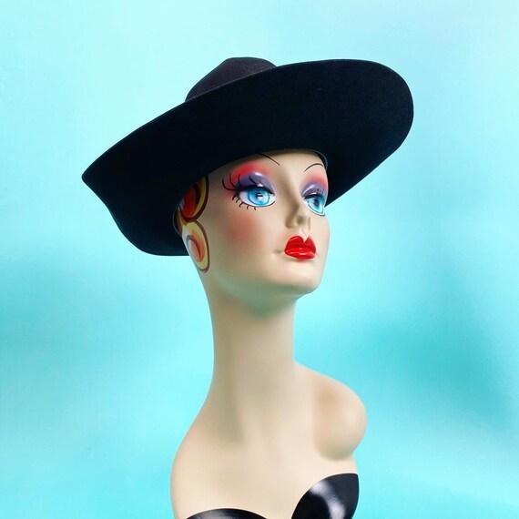 Vintage 1980s Black Cowboy Hat Size 7 - Western H… - image 8