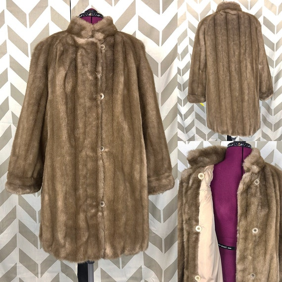 Faux Fur Coat - Country Pacer Coat - Vintage Frenc
