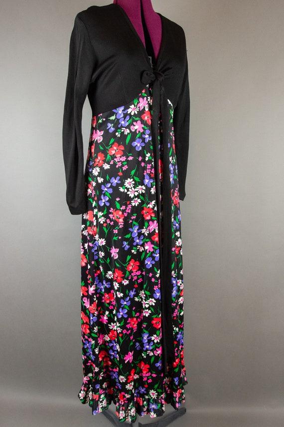 Vintage 1960s Dress -  Floral Maxi Dress - Large … - image 5