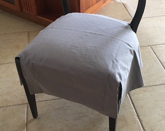 Chair Seat Cover - custom w/Corner Slits - LINED - choose your own size and fabric - chair cover - dining chair covers