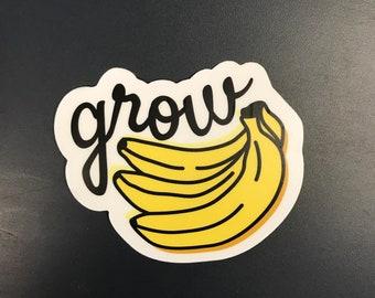 3e835e99196 Grow Bananas Greensky Bluegrass Sticker