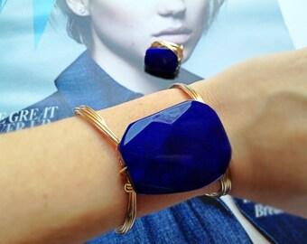 Taormina Blue Jade Wire Cuff