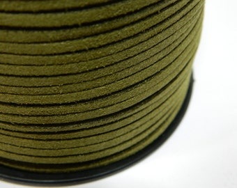 a440c292cee2d 2.7MM Olive Drab Green Faux Suede Lace Cord Jewelry Making Stringing  Material Color Green Suede Lace Necklace Cord 36