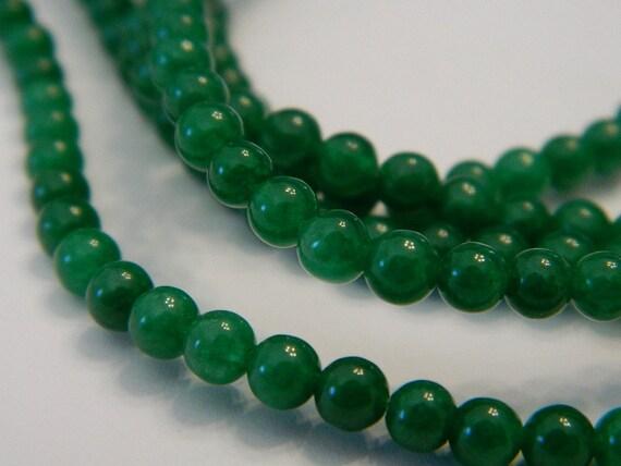 PCS pierres précieuses Bijoux Making Crafts New Jade Perles rondes 6 mm vert pâle 60