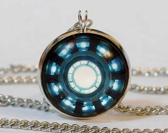 Handmade Ironman Arc Reactor Pendant Necklace