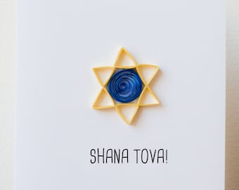 Rosh hashanah cards rosh hashanah table table card etsy rosh hashanah card jewish new year card shana tova card rosh hashanah greeting card star of david card rosh hashana card m4hsunfo