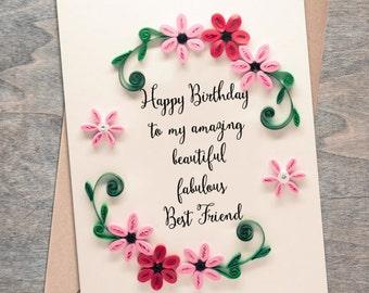 Birthday card friend birthday card happy birthday card etsy m4hsunfo
