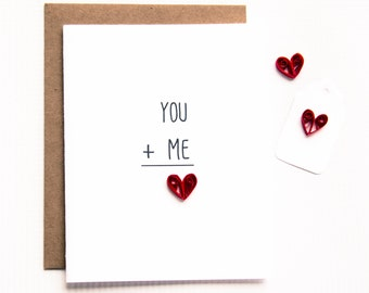 I love you greeting card. Paper Red Heart. Romantic gift for boyfriend, girlfriend, husband, wife for any occasion - birthday, anniversary