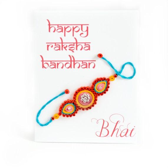 Rakhi Card for brother- Raksha Bandhan Card - Card for Bhai - Card for  Brother - Card From Sister - happy raksha bandhan - Card for Rakhi
