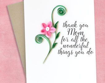 Mother's Day Gift Basket Mother  Card - Card For Mom - Mom birthday card - Thank you mom card