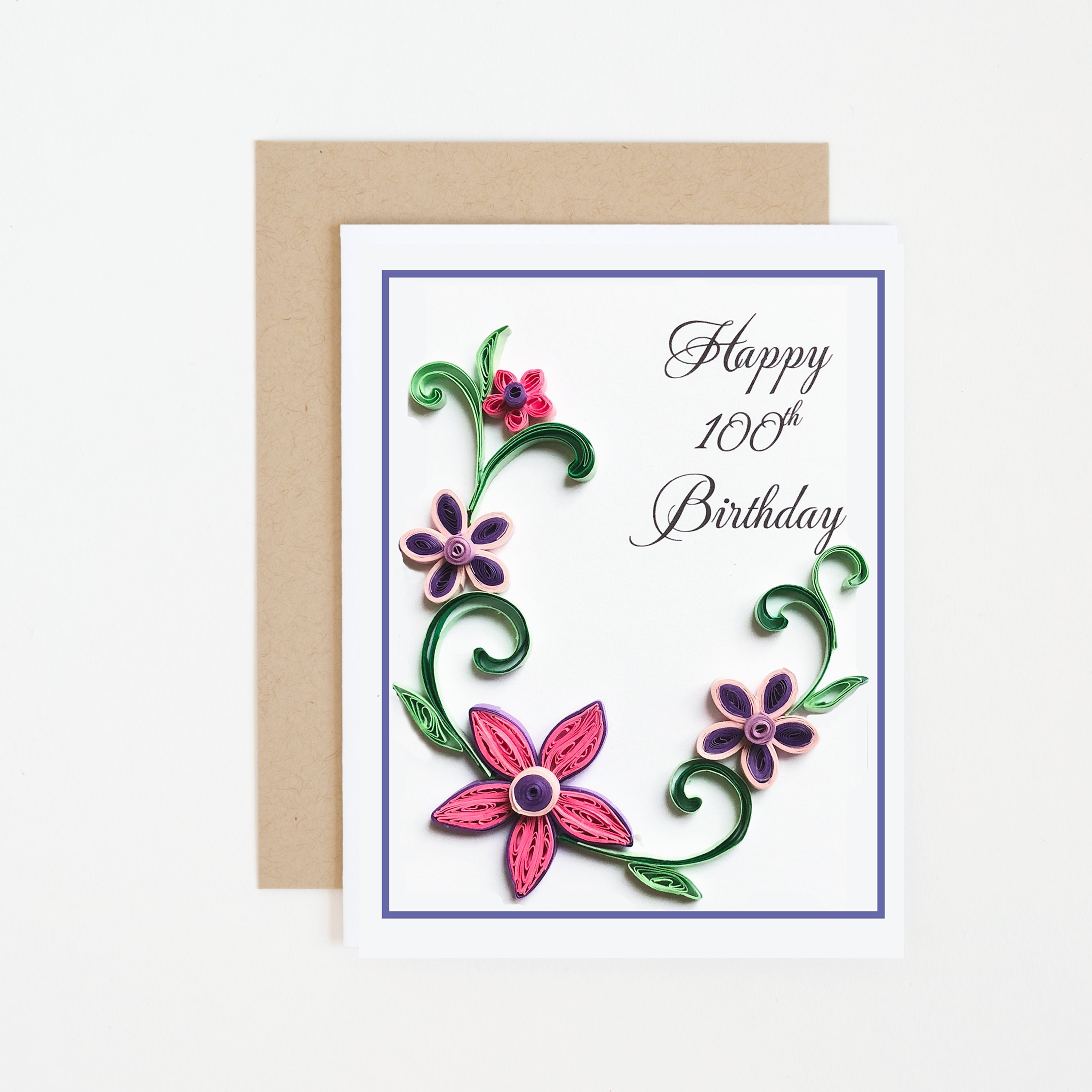 Happy 100th Birthday Card Personalized Choose Any Age Etsy